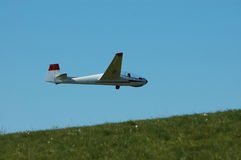Glider in flight. Stock Photos