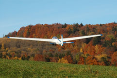 Glider in flight. Royalty Free Stock Images