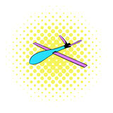 Glider icon, comics style Stock Photos