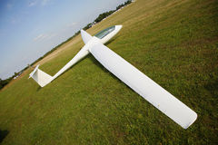 Glider just landed Stock Photography