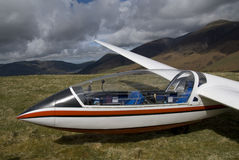 Glider in the lake district Royalty Free Stock Photography