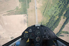 Glider looping Stock Image