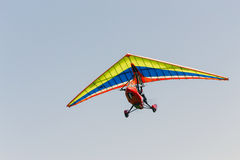 Glider. Motor hang-glider in the sky Royalty Free Stock Photo