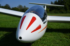 Glider plane front fuselage view detail Royalty Free Stock Photography