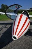 Glider plane front fuselage view detail Royalty Free Stock Photos