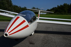 Glider plane front fuselage view detail Royalty Free Stock Image