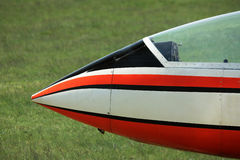 Glider plane nose Stock Images