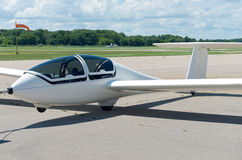 Glider Plane on Runway Royalty Free Stock Image