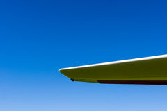 Glider plane wing against blue sky Stock Photos