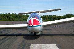 Glider on a runway Royalty Free Stock Photography
