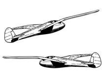Glider sailplane in flight Stock Images