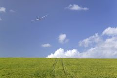 Glider in the sky Stock Photography