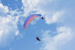 Glider in the sky with clouds Royalty Free Stock Photo
