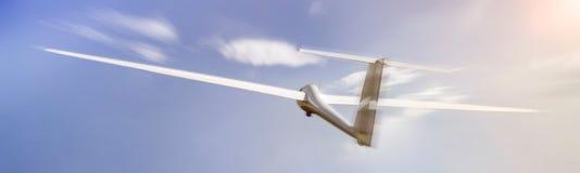 Glider speeding mid air. A glider speeding mid air Royalty Free Stock Image