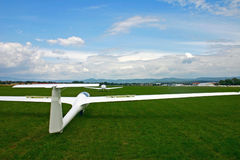 Glider take off. Glider taking off from prievidza, Slovakia Royalty Free Stock Image