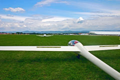 Glider take off. Glider taking off from prievidza, Slovakia Stock Images