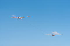 Glider on tow Royalty Free Stock Photos