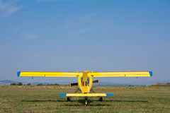 Glider towing airplane Stock Photo