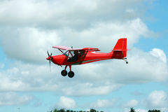 Glider towing plane landing Royalty Free Stock Images