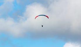 Glider under clouds Stock Image