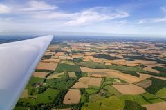 Glider wing landscape Stock Photos