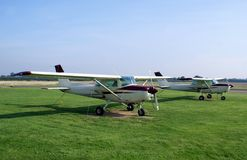 Gliders in an airport Stock Photo