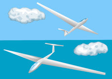 Gliders and clouds Stock Photography
