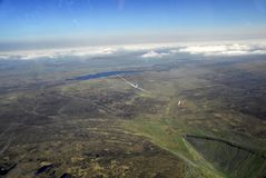 Gliders soaring above Pennines Stock Photo