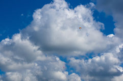 Glidflygplanet himmel, fördunklar Royaltyfri Foto
