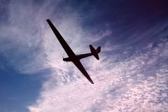 Gliding along a beautiful sky Royalty Free Stock Photos
