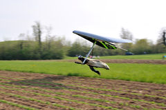 Gliding flight deltaplano Royalty Free Stock Images