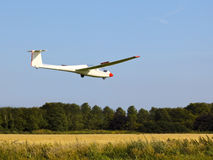 Gliding in to land Stock Image