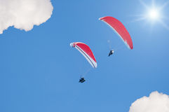 Gliding together Stock Images