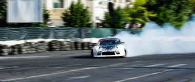 Glidning av bilen Royaltyfria Foton