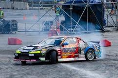 Glidning av bilen Royaltyfri Foto