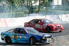 Glidning av bilen Royaltyfri Bild