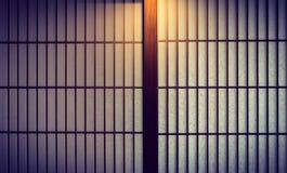 Glidningsdörr för japansk stil Arkivfoton