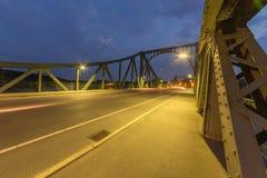 Glienicke Bridżowy z ukosa Zdjęcie Royalty Free