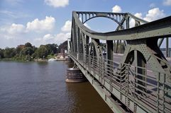 Glienicke bridge 4. Glienicke bridge, berlin / germany, in summer of 2006; the place of spy swap during cold war between east and west stock photos