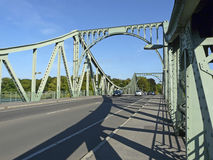 The Glienicke bridge between Berlin and Potsdam which was former Royalty Free Stock Image