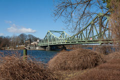 Glienicke Bridge in February Royalty Free Stock Image