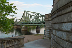 Glienicke Bridge and Wall Stock Images