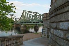 Glienicke ściana i most Obrazy Stock