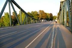 Glienicke most przez Havel rzekę w Niemcy Obraz Royalty Free