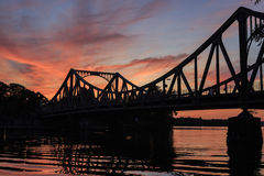 Glienicker bridge at sunset Stock Image