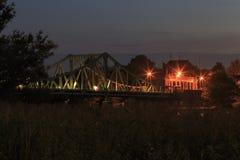 Glienicker bro på natten Royaltyfria Bilder