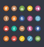 Glif Barwione Wektorowe ikony 20 ilustracja wektor