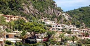 Glifada海滩,科孚岛,希腊 库存照片