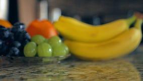 Glijdende klem van geassorteerde vruchten stock videobeelden