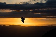 Glijscherm bij zonsondergang Royalty-vrije Stock Foto's